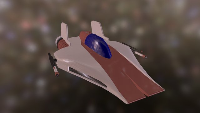 Star Wars A-wing 3D Model