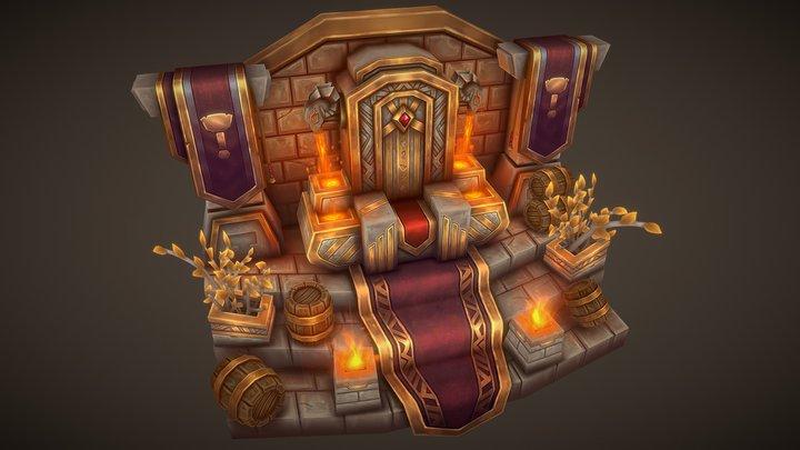 Dwarf Throne 3D Model