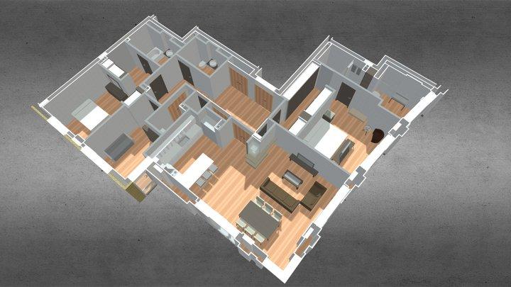 St Edward: 190 Strand - Apartment Layout 3D Model