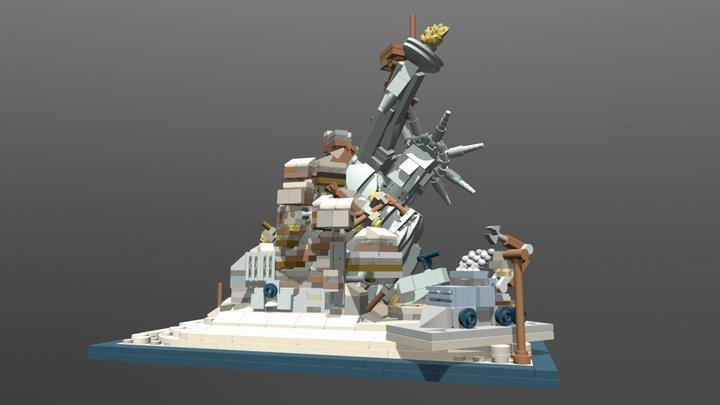 Microscale Apocalypseburg w/JK face mod 3D Model