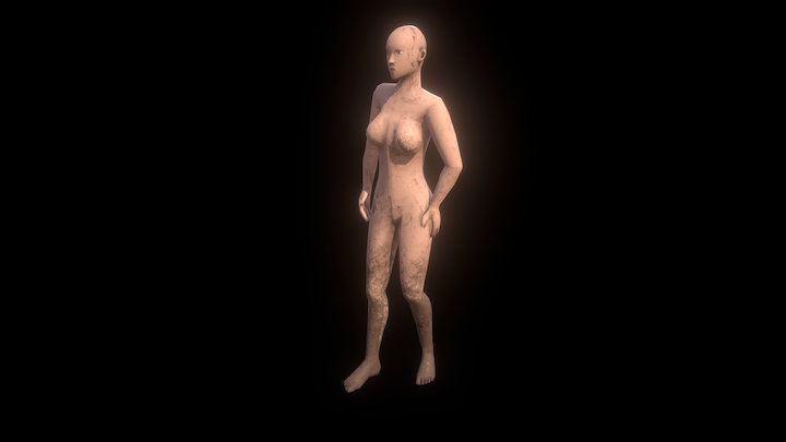 Low Poly Woman or Humanoid A.I. 3D Model