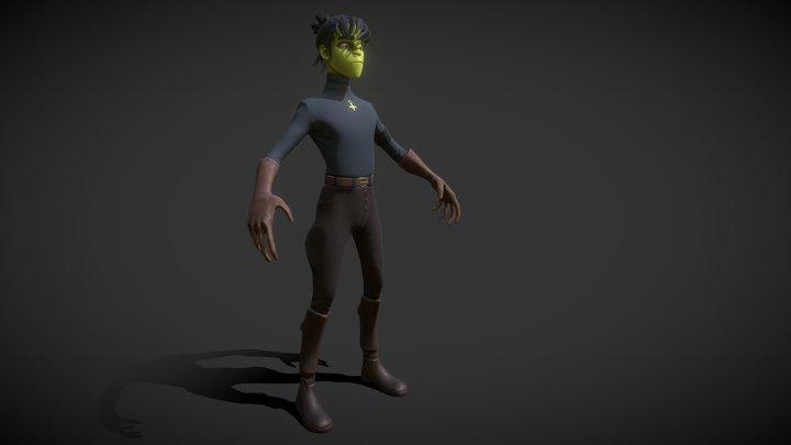 Gorillaz Murdoc 3D Model