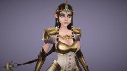 Princess Zelda 3D Model