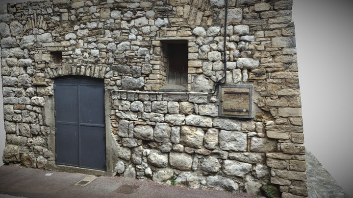 Stone Building Corner highpoly 3D Model