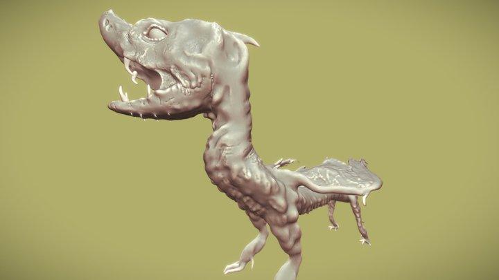 Schlangendrache 3D Model