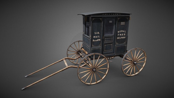 Rural Free Delivery wagon 3D Model