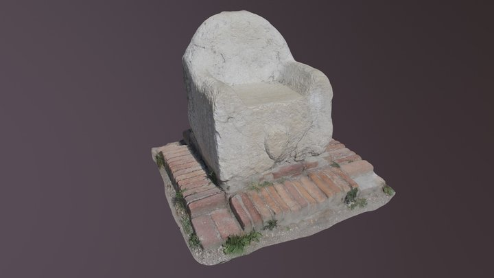 Trono di Attila a Torcello 3D Model
