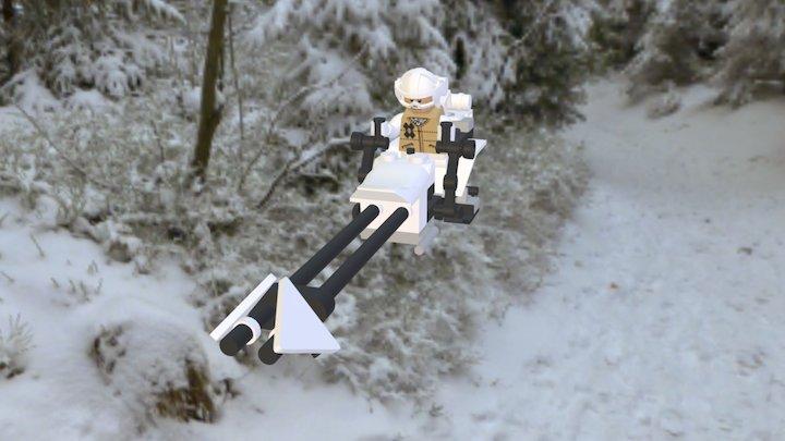 74-Z speeder bike Hoth LEGO 3D Model