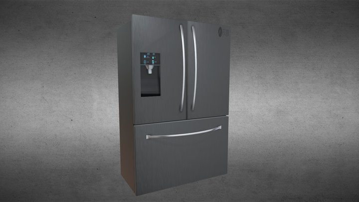 Modern Fridge 3D Model