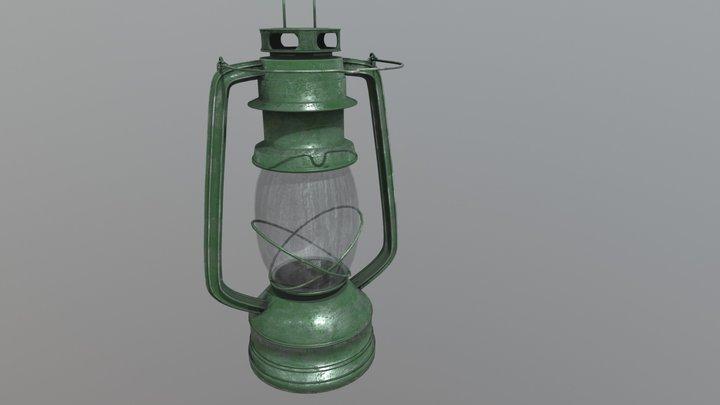 Lamp Kerosene Old 3 3D Model