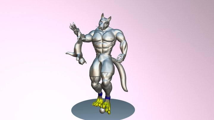 Werewolf Pose (test) 3D Model