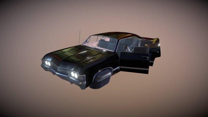 Sci-fi 1967 Impala 3D Model