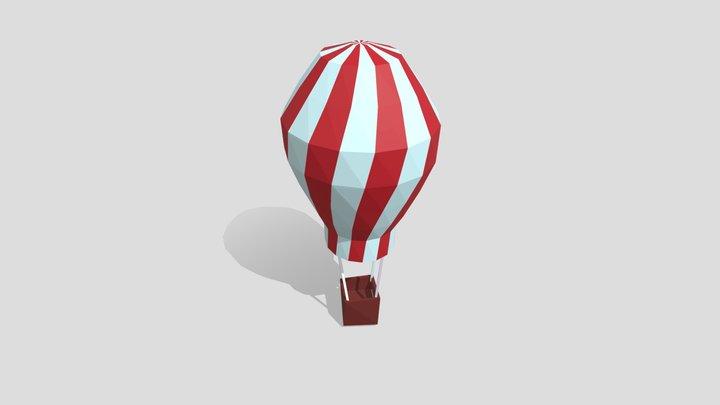 Mongolfiera Rossa 3D Model