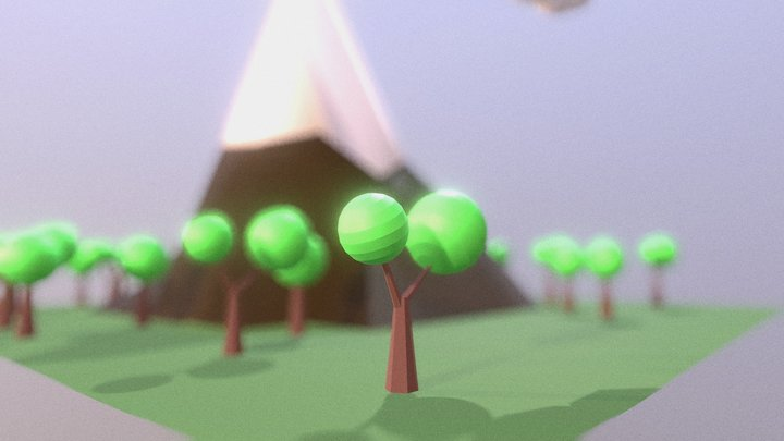 Low Poly Map 3D Model