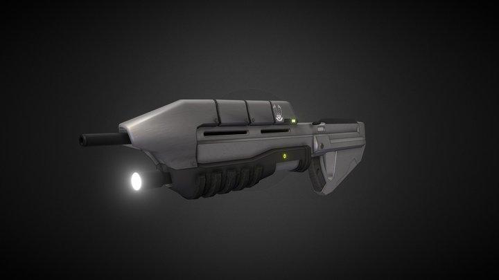 Halo Assault Rifle 3D Model