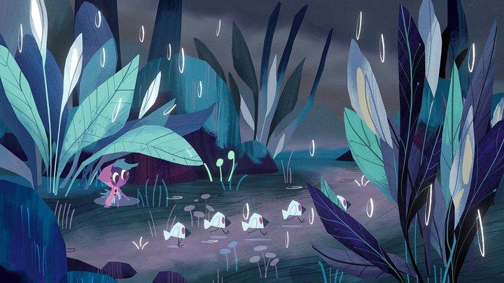Peace Lilies (Zoe Persico's Illustration) 3D Model