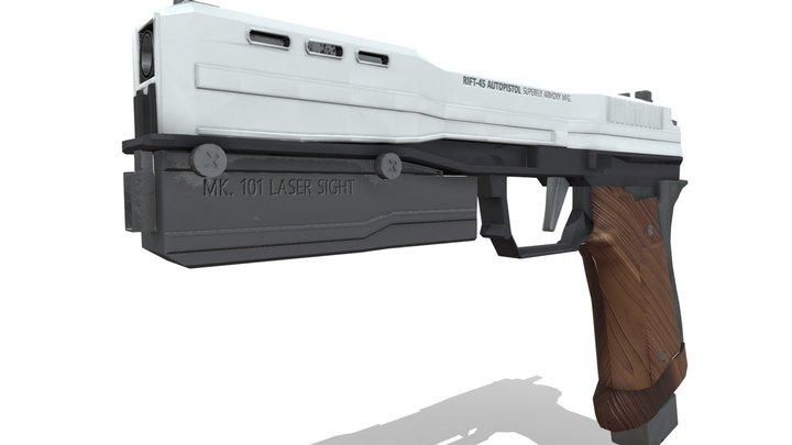 RIFT-45 Autopistol 3D Model