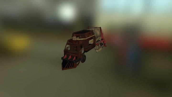 Steam Punk Style Truck 3D Model