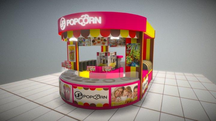 POP CORN 3D 3D Model