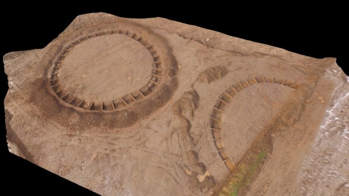 Bronze Age Ring Ditches, near Plymouth, Devon 3D Model