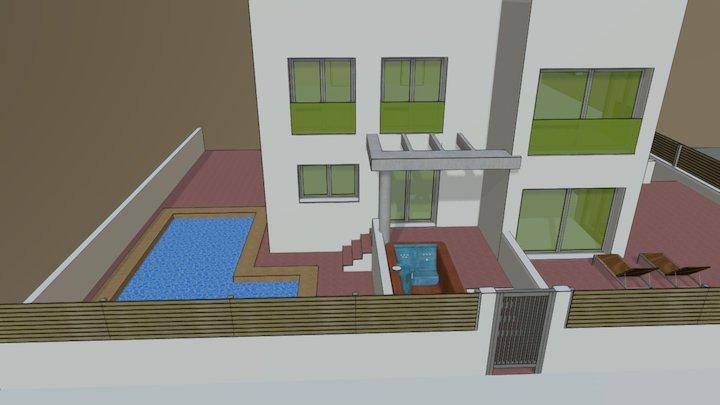 Propuesta de 4 viviendas de vacaciones 3D Model