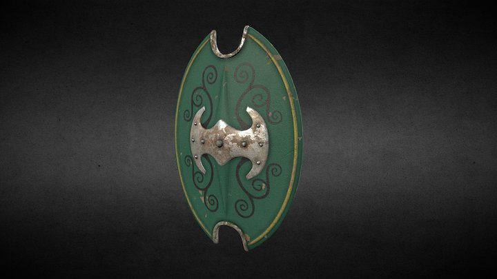 One Day Models:  Celtic Shield 3D Model
