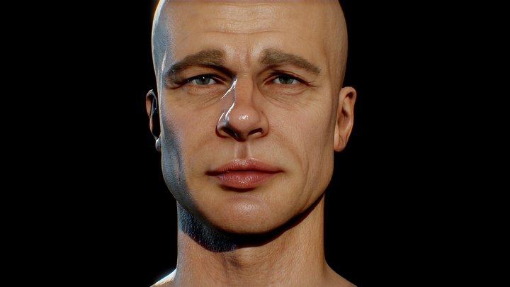 Brad Pitt 3D Model 3D Model