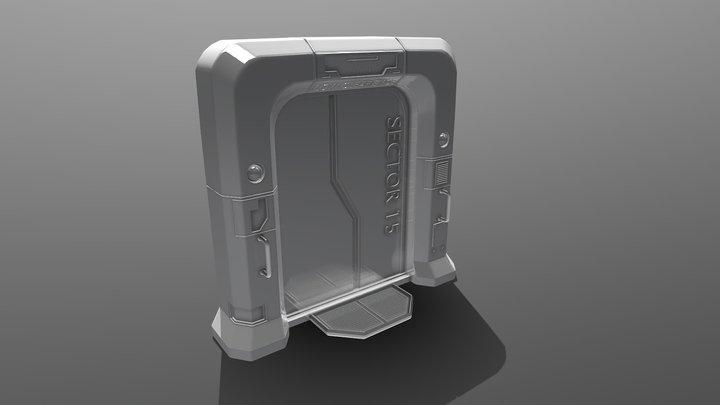 Sci Fi Gate 3D Model