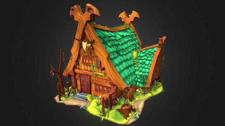 Stylised Viking Shaman House 3D Model