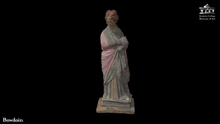 Tanagra Figurine of Standing Woman 3D Model