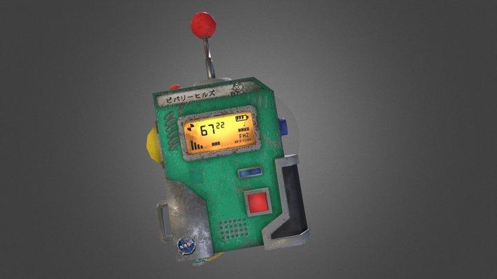 Sci fi Radio Low Poly 3D Model
