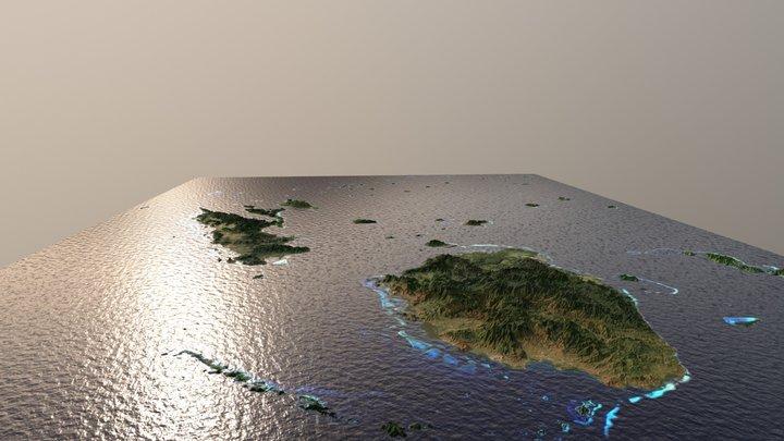 Fiji Islands 3D Model