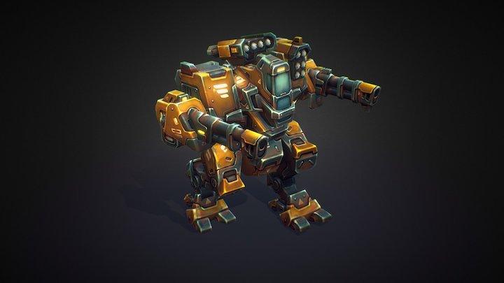 Mech Constructor: Assault Mech (Animated) 3D Model