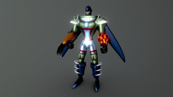 Elemental Hero Magma Neos (Yugioh) 3D Model