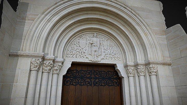 Aisne-Marne Chapel Entrance 3D Model