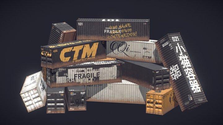VR Container Demo Scene for AMPERSAND 3D Model