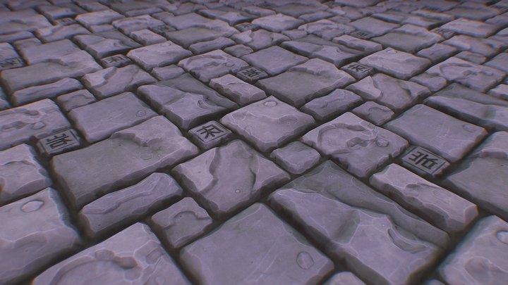 Hand-painted style - Floor slabs 3D Model