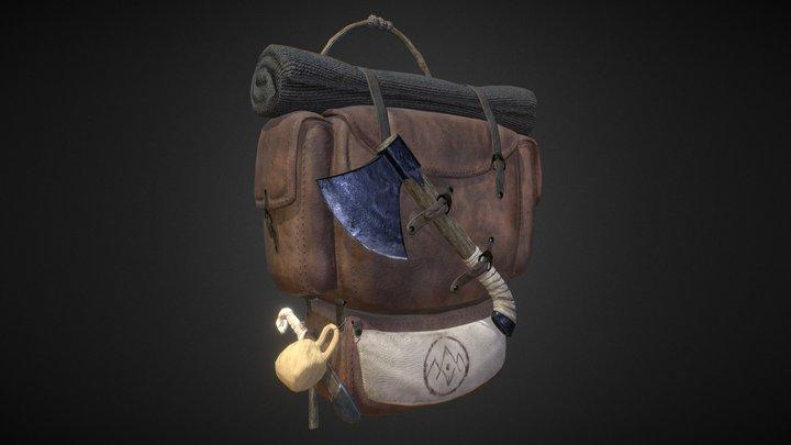 The Wanderer's Guild Fantasy Backpack 3D Model