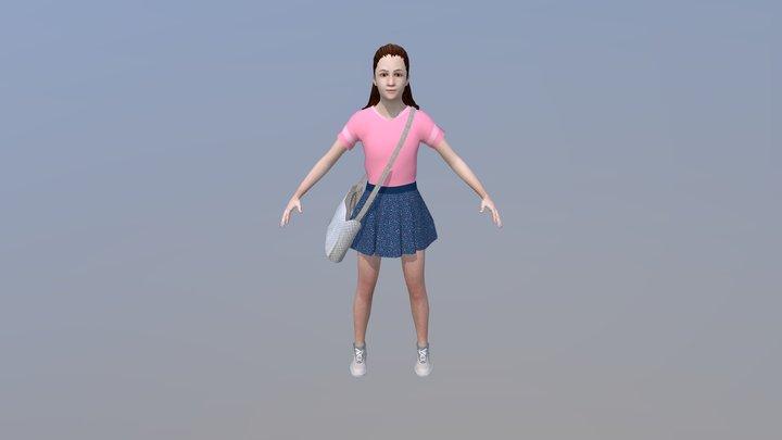 SSD2 KID GIRL 1 3D Model