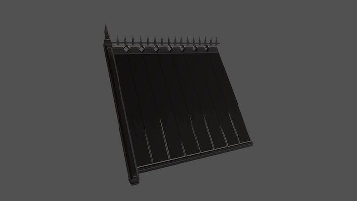 Hand Painted Roof 3D Model