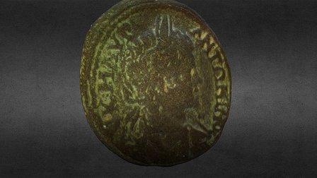 CARACALLA Roman Provincial Coin - Markianopolis 3D Model