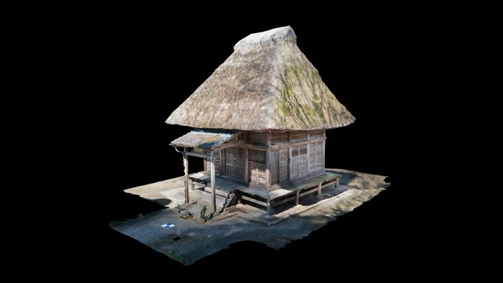 御大師堂(熊本県指定重要文化財) 3D Model