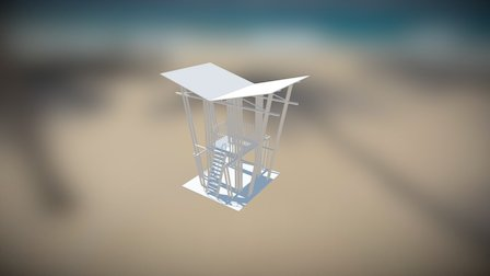 Casetas Salvavidas 3D Model