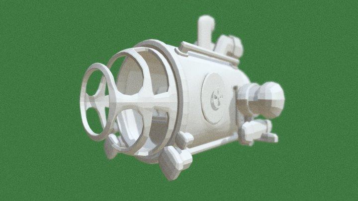 Cartoon Submarine 3D Model