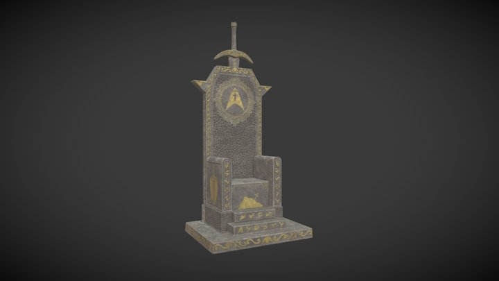 King Arther Throne 3D Model