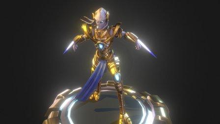Starcraft - Protoss Female Zealot 3D Model