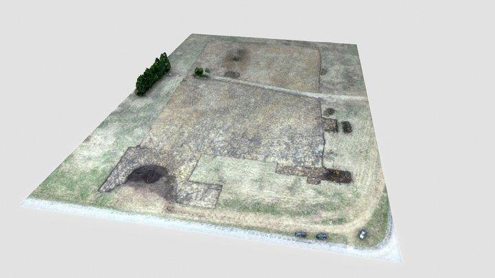 Panevėžys, paviršiaus po žemės darbų 3D modelis 3D Model
