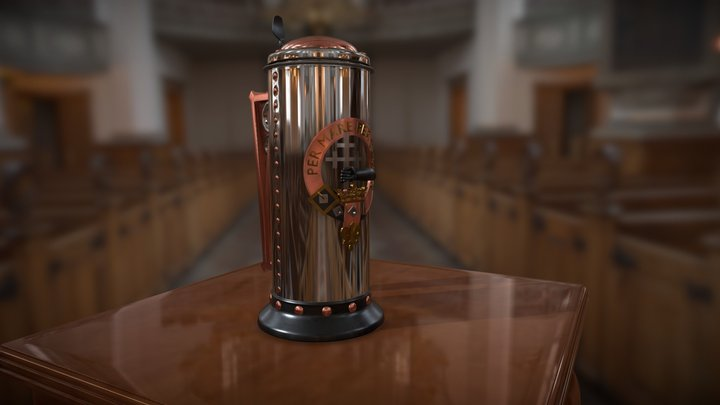 Clan Donald Beer Stein 3D Model