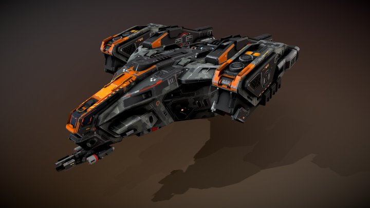 SF Dropship R35 3D Model