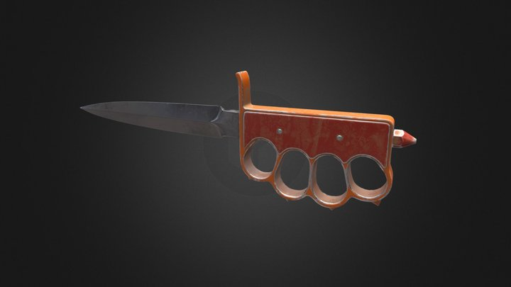 WW1 Trench Knife 3D Model
